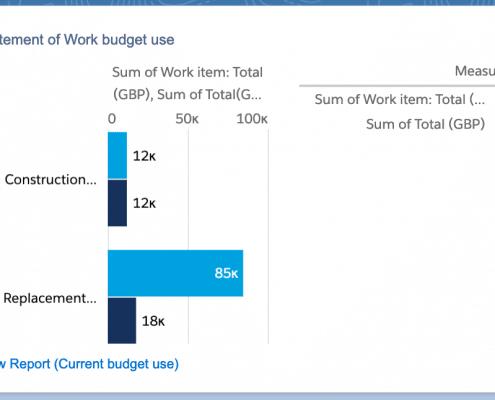 Statement of Work Budget vs actuals
